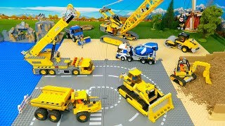 Video Lego Bulldozer, Concrete Mixer, Dump Truck, Mobile Crane , Tractor, Excavator Toy Vehicles for Kids MP3, 3GP, MP4, WEBM, AVI, FLV Juli 2019