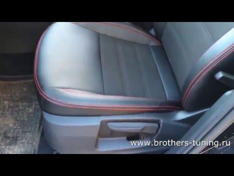"""Чехлы на Skoda Octavia A7 (elegance), серии """"Alcantara"""" - серая строчка"""