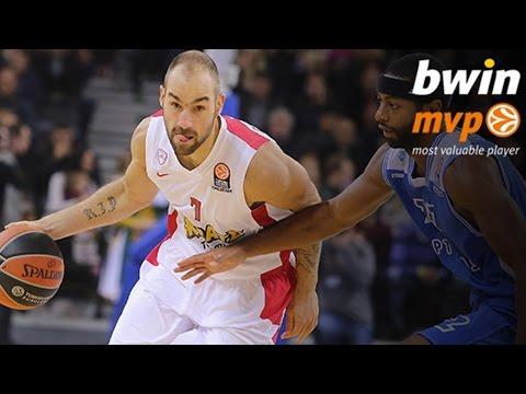bwin MVP for October: Vassilis Spanoulis, Olympiacos Piraeus