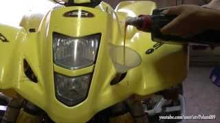 9. #10 Oil Change in Suzuki LTZ 400 -  Quad Quadsport Z400 Motul