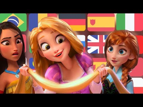 Wreck It Ralph 2 Princesses Scene in 23 languages
