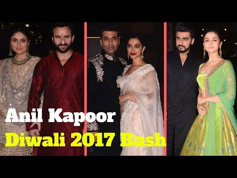 Bollywood Stars Arrive At Anil Kapoor Diwali Party
