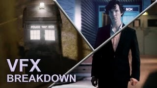 -  I Am The Doctor/Sherlock's Theme Piano Mashup by Chris Musitano http://christophermusitano.bandcamp.com-  Original Wholock Logo by http://www.cloverscribbles.tumblr.comA little Visual Effects Breakdown of some of the shots from Wholock. Enjoy!Of the 85 shots in the final video, only two contained no VFX. Everything from clothing replacement to rotoscoping to full facial animation to a 3D TARDIS was used to create the illusion of a continuous story. And so, unlike the 50th Trailer, I could not simply remove a shot if it wasn't working very well, as every single angle was vital to the flow of the story.Adobe After Effects, Photoshop, and Premiere were the programs used in creating the visuals.