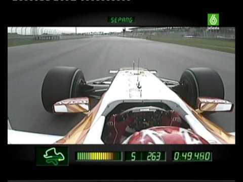 Alonso en el Circuito de Sepang