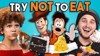 Video Try Not To Eat Challenge - Disney Food #3   People Vs. Food MP3, 3GP, MP4, WEBM, AVI, FLV Agustus 2019