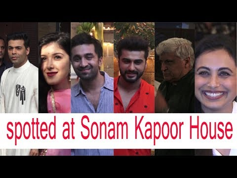 CeleBrities Spotted at Sonam Kapoor House