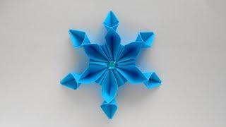 Снежинка из бумаги ❄ Оригами Снежинки на Новый год 2019
