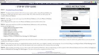 Instructions - http://howtofilefordivorce.org/how-to-file-for-divorce-in-texas.htm STEP 1 - Download Texas Divorce Papers...