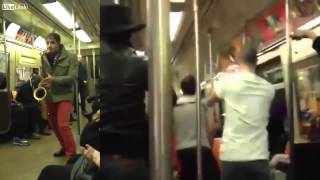 Nonton Two Total Strangers Have Saxophone Battle On Nyc Subway Train Film Subtitle Indonesia Streaming Movie Download