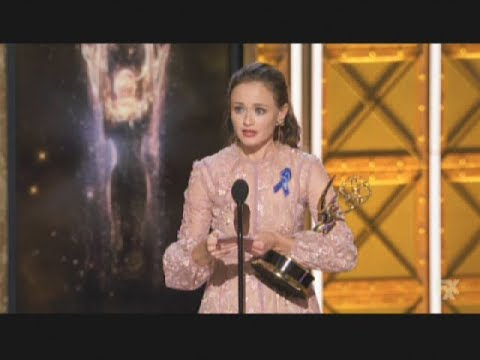 Alexis Bledel wins Emmy Award for The Handmaid's Tale (2017)