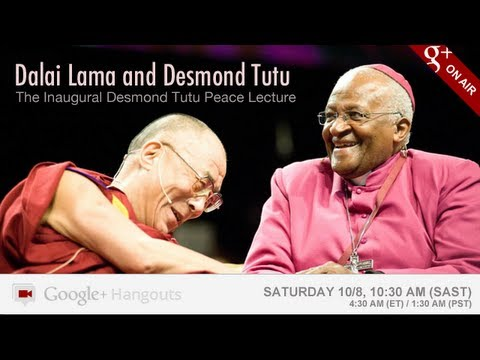 Image of On Video - Dalai Lama & Desmond Tutu hang out on Google+