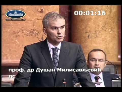 Душан Милисављевић у Скупштини о амандманима на Предлог измена Закона о здравственој заштити