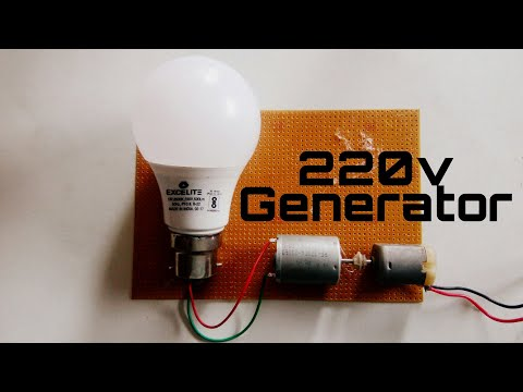 How To Make 220v Generator By Dynamo Motor