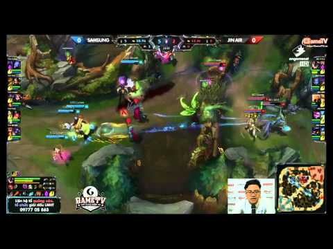 LCK 2015 mùa hè (W3D1) - SAMSUNG GALAXY vs JIN AIR GREEN WINGs - 04/06/2015