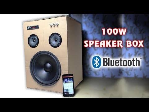 Download How to make 100W Bluetooth Speaker Box from Cardboard