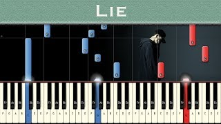 Video NF - Lie | Piano tutorial download in MP3, 3GP, MP4, WEBM, AVI, FLV January 2017
