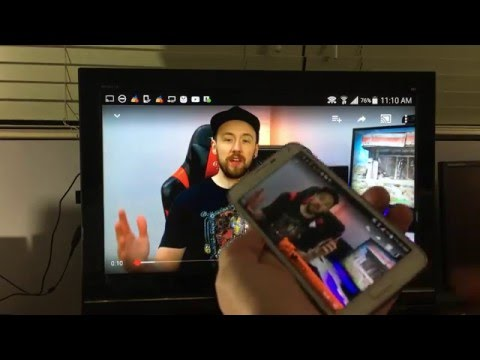 SCREEN MIRROR WIRELESSLY TO HDTV- MOST SAMSUNG GALAXY PHONES