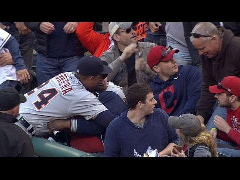 Miguel Cabrera Surprises Fan In Stands With A Big Hug At Last Night's Tribe Game