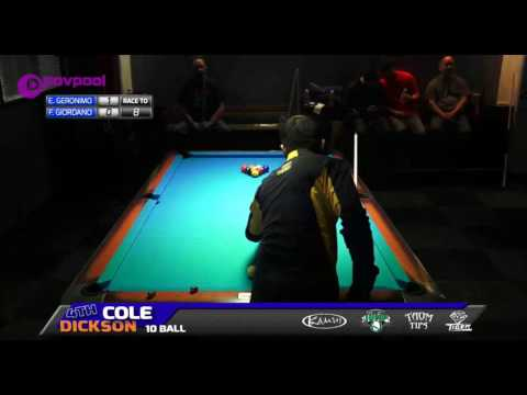 #1 • Edgie GERONIMO vs Frank GIORDANO • 2016 Cole Dickson 10 Ball (видео)