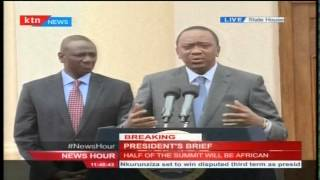 President Kenyatta's adress on Obama visit