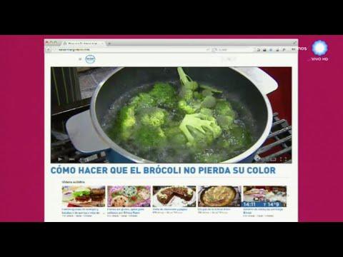 Cómo cocinar el brócoli para que no pierda color