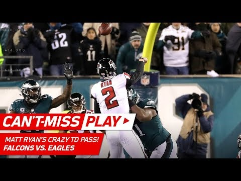 Matt Ryan Tosses Crazy TD Pass w/ Defenders All Over Him!   Can't-Miss Play   NFL Divisional HLs