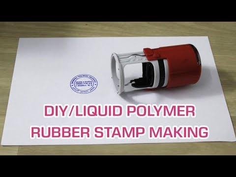 Rubber Stamp Making /How to Make Polymer Rubber stamp/seal making/DIY