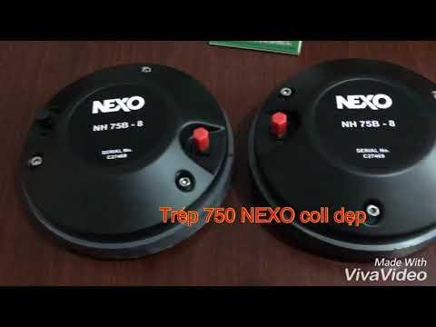 Trepble 750 NEXO coil dẹt cao cấp nhập khẩu mới 100%