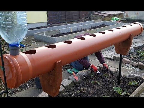 Грядка для клубники из трубы