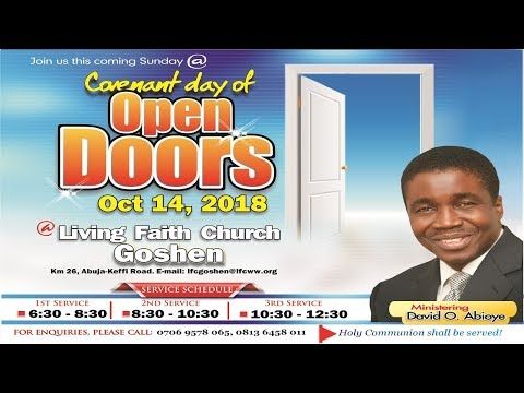 Covenant Day Of Open Doors (1st Service) October 14, 2018