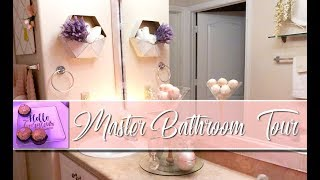 2018 MASTER BATHROOM TOUR! | Champagne and Gold Decor | DECOR FOR RENTERS | MOOREGIRL
