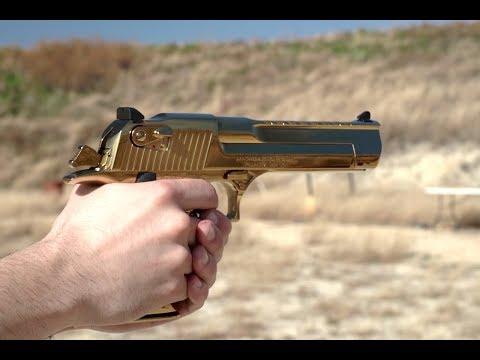 Shooting My Gold Desert Eagle .50 AE