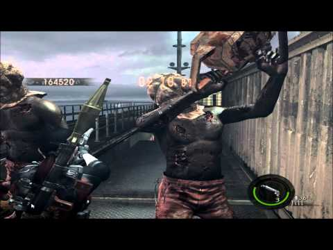 Resident Evil 5 - The Mercenaries - Solo -Ship Deck - Boss Mania