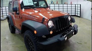 2015 Jeep Wrangler Willys Wheeler Sunset Orange | Black Grille | New Jeep For Sale | 17717