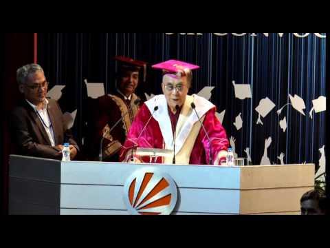 Dalai Lama Tenzin Gyatso's convocation address to Students of LPU