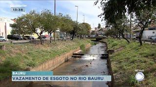Vazamento de esgoto no Rio Bauru