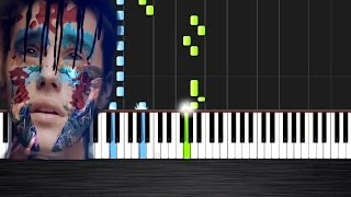 Skrillex and Diplo - Where Are Ü Now feat. Justin Bieber - Piano Tutorial  Ноты и МИДИ (MIDI) можем