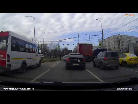 Я свидетель  ДТП, Москва и МО 13.04.2019 (Запись видеорегистратора)