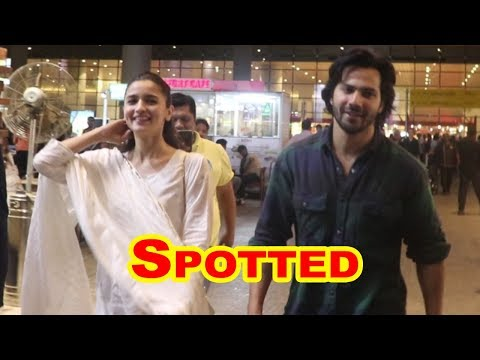 Varun Dhawan & Alia Bhatt  Spotted At Airport