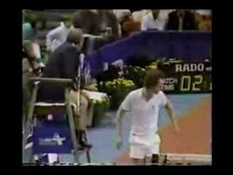 John McEnroe goes nuts to the chair umpire
