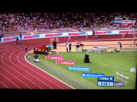 Genzebe Dibaba 1500m WORLD RECORD 3:50.07 Full race