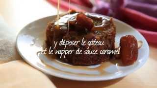 Gâteau aux dattes et sa sauce caramel