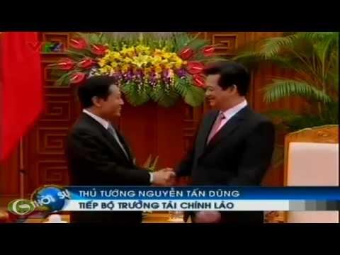 Thủ tướng Nguyễn Tấn Dũng tiếp Bộ trưởng Tài chính Lào