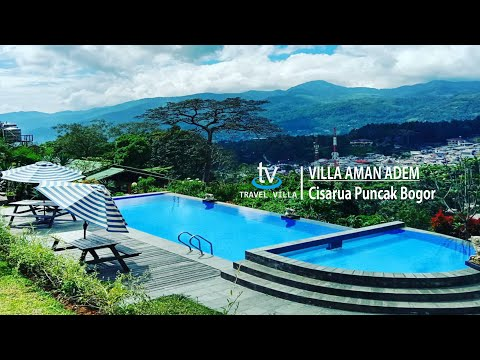 Villa Aman Adem di Puncak Cisarua Bogor Memiliki View Lepas Gunung Pangrango