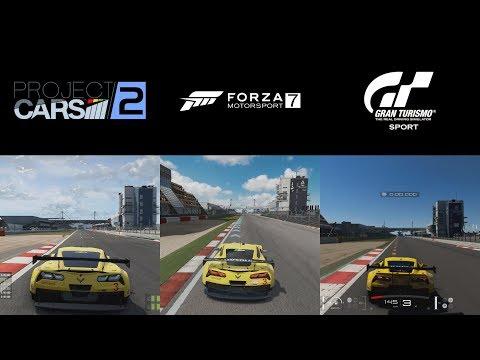 Project Cars 2 vs Forza Motorsport 7 vs Gran Turismo Sport - Nürburgring GP with Chevrolet Corvette