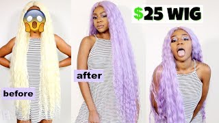 How to Dye Synthetic Hair   EASY DIY Lavender Hair   Water coloring   ft Janet Collection