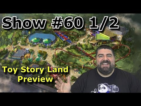 Toy Story Land Preview - BIG FAT PANDA SHOW #60 1/2 - My Hardhat Tour Reactions - with Merch & Food (видео)