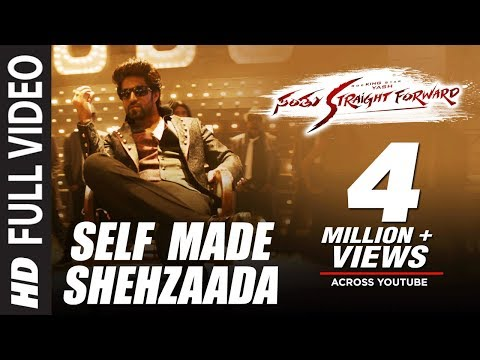Santhu Straight Forward Songs|Self Made Shehzaada Full Video Song|Yash,Radhika Pandit|V. Harikrishna