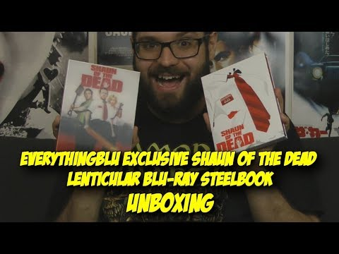 EverythingBlu's Shaun Of The Dead Lenticular Blu-Ray - Blood Splattered Unboxing (Blu-Ray Review)
