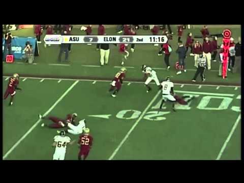 Brian Quick vs Elon University 2011 video.